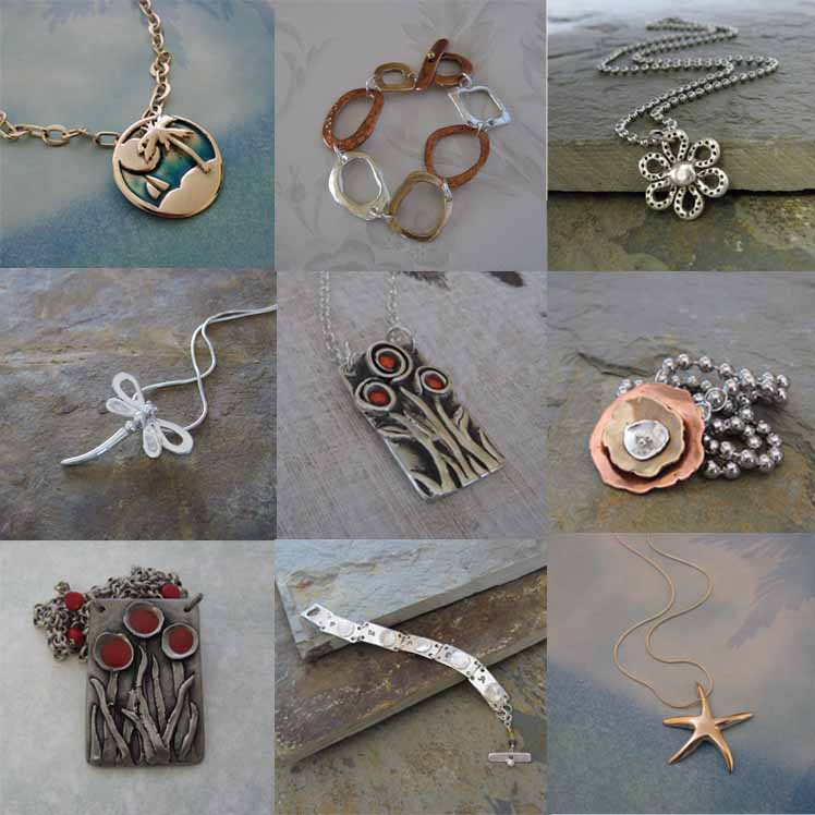 Handmade silver bronze handmade artisan jewelry by cheryl for What metal is best for jewelry